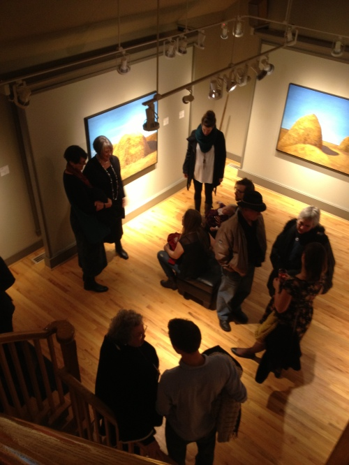 Sometimes, I just like to go out somewhere. This evening, Dad and I went to the Oak Bay Gallery Walk and stopped in at the Winchester Gallery. Jeff Molloy's exhibition A Simple Life officially opened tonight - I was delighted to see it was rich in agricultural content...