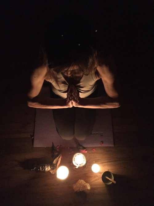 Yoga by candlelight, on the path to bliss... (Photo: Ally Pony)