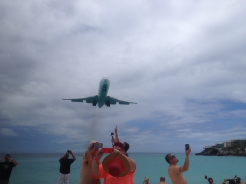 What could be more fun than elbowing other tourists out of the way to get your best shot of an incoming plane? I know, standing in the dreaded jet blast zone as one takes off!