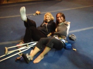 Add the two of us together (Charlotte has a broken foot) and you might wind up with one decent climber!