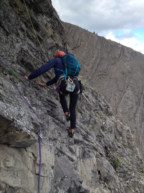 Brave Anne - I don't think she broke a sweat during our descent...