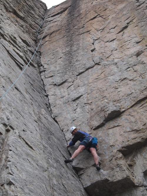 I do like these crack climbs...