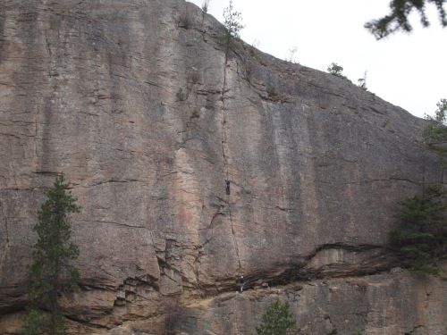 Assholes of August - we climbed this one twice - once as darkness was falling, the second time in daylight - lots of fun. Maybe next time I'm in Skaha I might be able to lead this one... It never hurts to have goals!