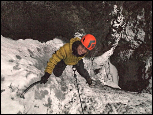 Warm temperatures are usually good thing when one sets out to do some rock climbing. That's not the case when the objective is climbing ice...