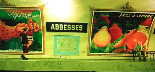 Amelie at Abbesses Station AtoZ