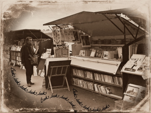 Books By the Seine BW.jpg