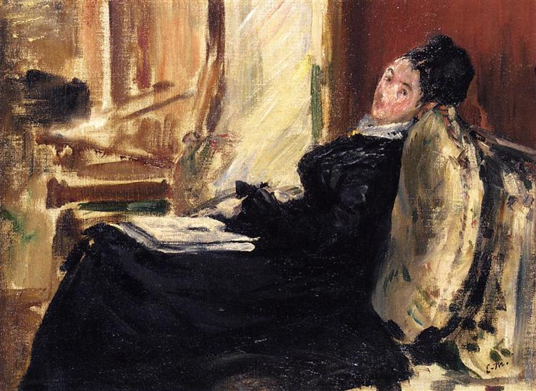 Edouard Manet young-woman-with-a-book-1875