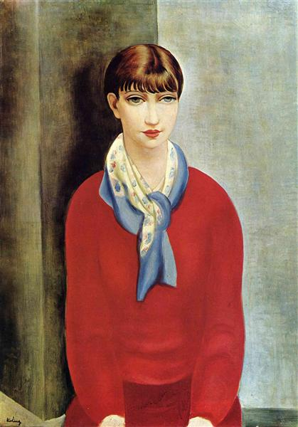 kiki-de-montparnasse-in-a-red-jumper-and-a-blue-scarf-1925.jpg!Large