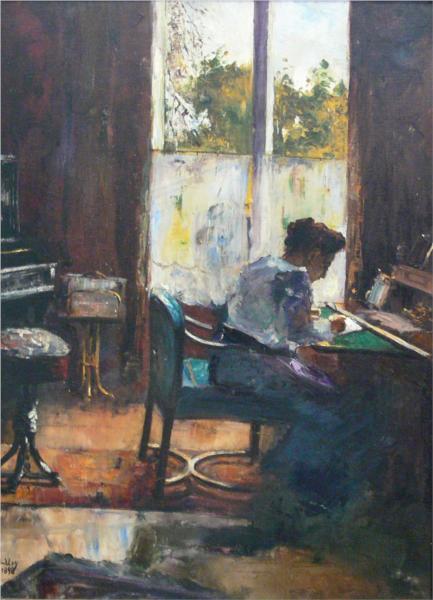 Lesser Ury woman-at-writing-desk-1898.jpg!Large