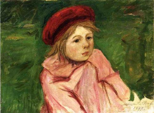 Mary Cassatt 1898 little-girl-in-a-red-beret-1898.jpg!Large