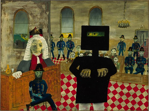 the-trial-1947 Ned Kelly series by Sidney Nolan