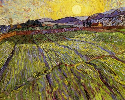 van gogh enclosed-field-with-rising-sun-1889(1).jpg!Large