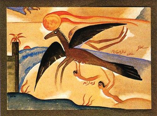 Xul Solar 1922 pegaso-de-sol-1922