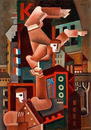 acrobats-in-paris-1924 Gosta Adrian-Nilsson 1924