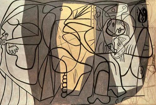 artist-and-his-model-1926 picasso