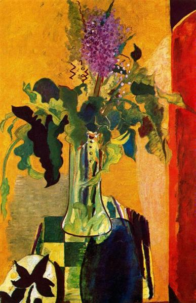 georges braque the-glass-of-lilac-1946