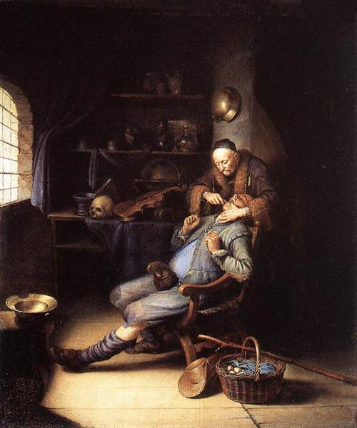 Gerrit Dou 1630 35 the-extraction-of-tooth-1635.