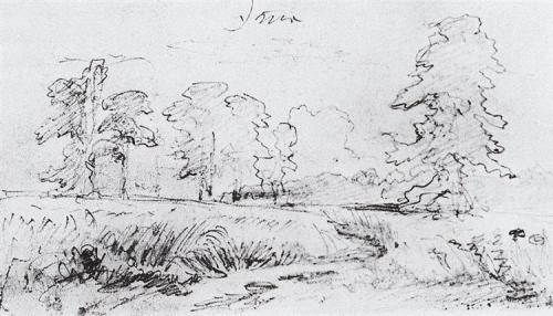 Ivan Shishkin 1878 the-sketch-for-the-painting-rye-1878