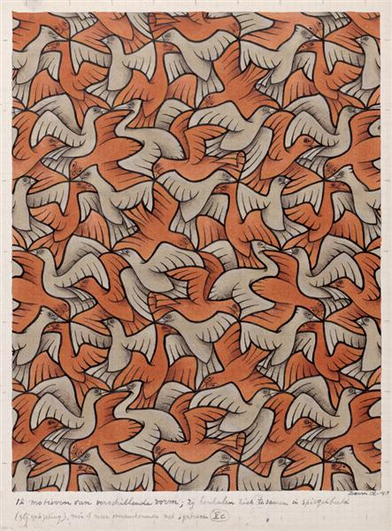 M. C. escher twelve-birds 1948.jpeg