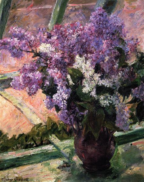 mary cassatt 1880 lilacs-in-a-window