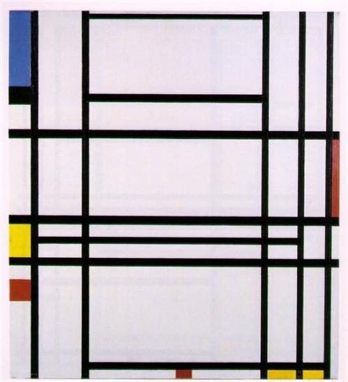 Mondrian Piet 1940 ish composition-no-10-1942