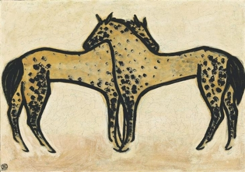 sanyu two-spotted-horses-1950.jpeg
