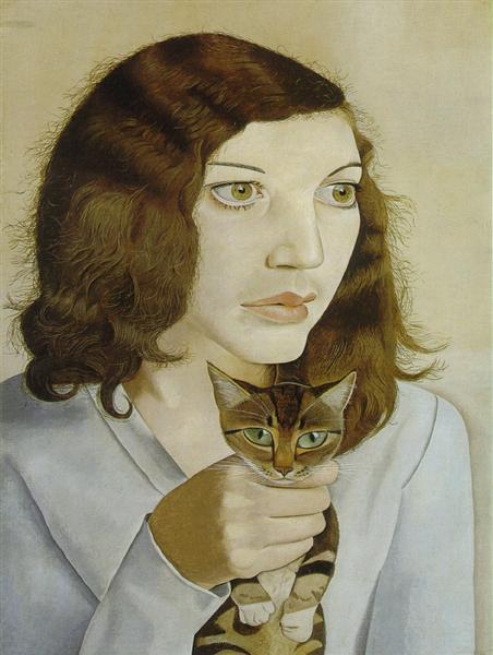 Lucien Freud girl-with-a-kitten-1947.jpg!Large