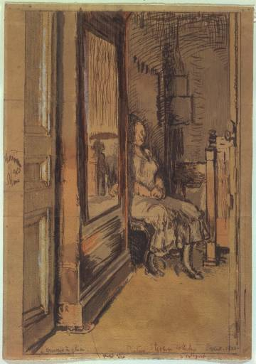 walter sickert 1922 study-for-the-wardrobe-1922